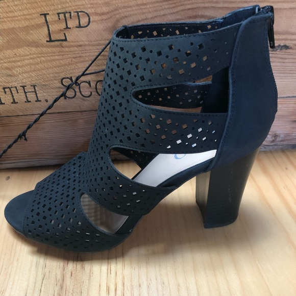 XOXO Shoes - NWOB XOXO Black Cut Out Booties Size 9.5